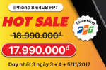 Tậu ngay iPhone 8 hàng FPT với mức giá không thể rẻ hơn tại Techone