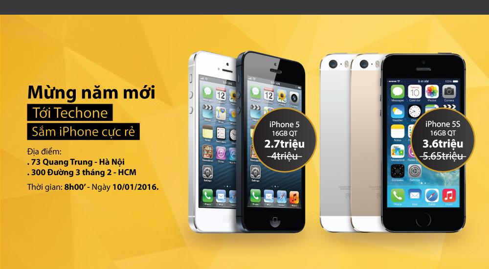 [Ngày vàng iPhone] – iPhone 5S – 3.6 triệu, iPhone 5 -2.7 triệu