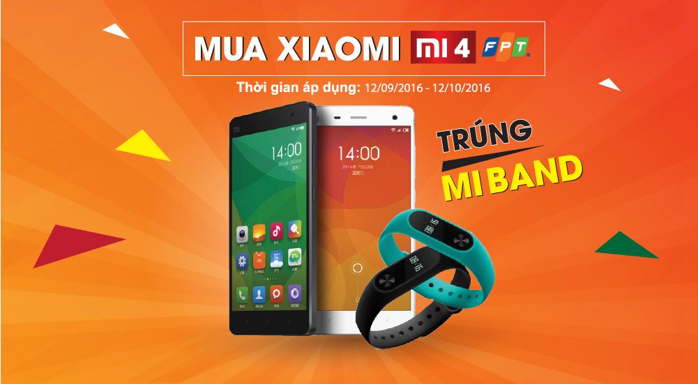 Mua Xiaomi Mi 4 trúng ngay 4 Mi Band