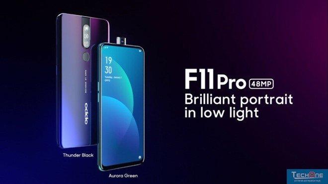"""Oppo F11 Pro ra mắt – Camera selfie """"thò thụt"""", camera 48 MP, sạc đầy pin trong 80 phút."""
