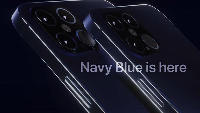 Đúng như mong ước của các iFan, iPhone 12 Pro được thiết kế tuyệt đẹp màu Xanh Navy, khung viền phẳng, 4 camera