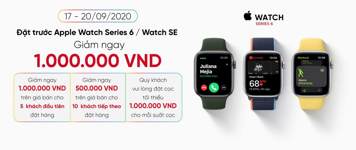 Đặt trước Apple Watch Series 6 / Watch SE